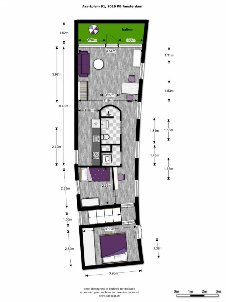 21-Plattegrond-Azartplein-91-amsterdam