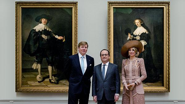 Marten-Soolmans-en-Oopjen-Coppit-met-Willem-Maxima-en-François-Hollande-2015