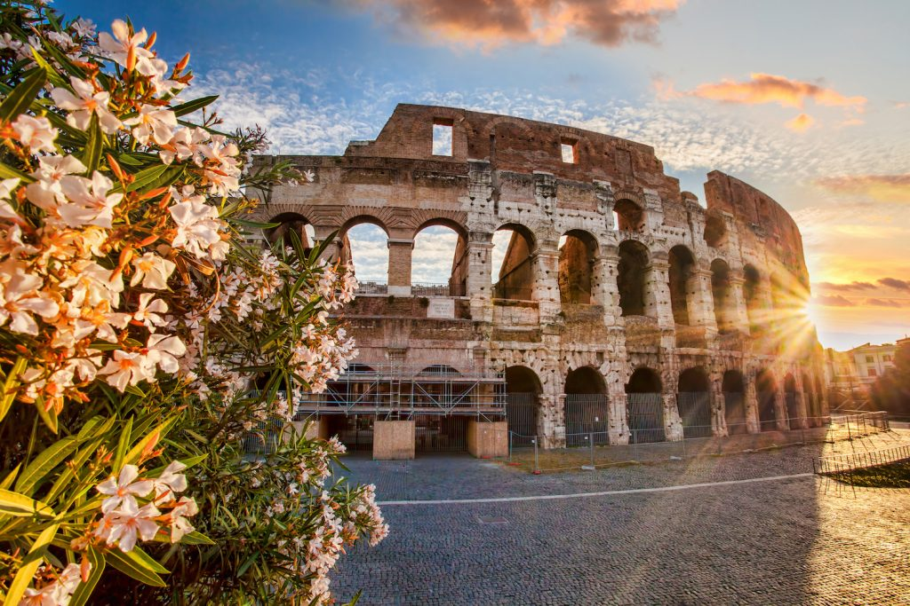 Colosseum during spring time, Rome, Italy; Shutterstock ID 196096889