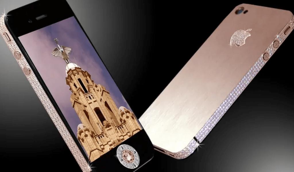 duurste-telefoon-Stuart Hughes iPhone 4 Diamond Rose Edition-min