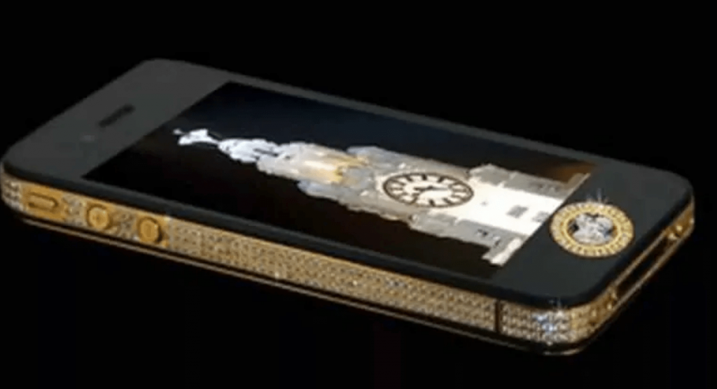 duurste telefoon Stuart Hughes iPhone 4s Elite Gold-min