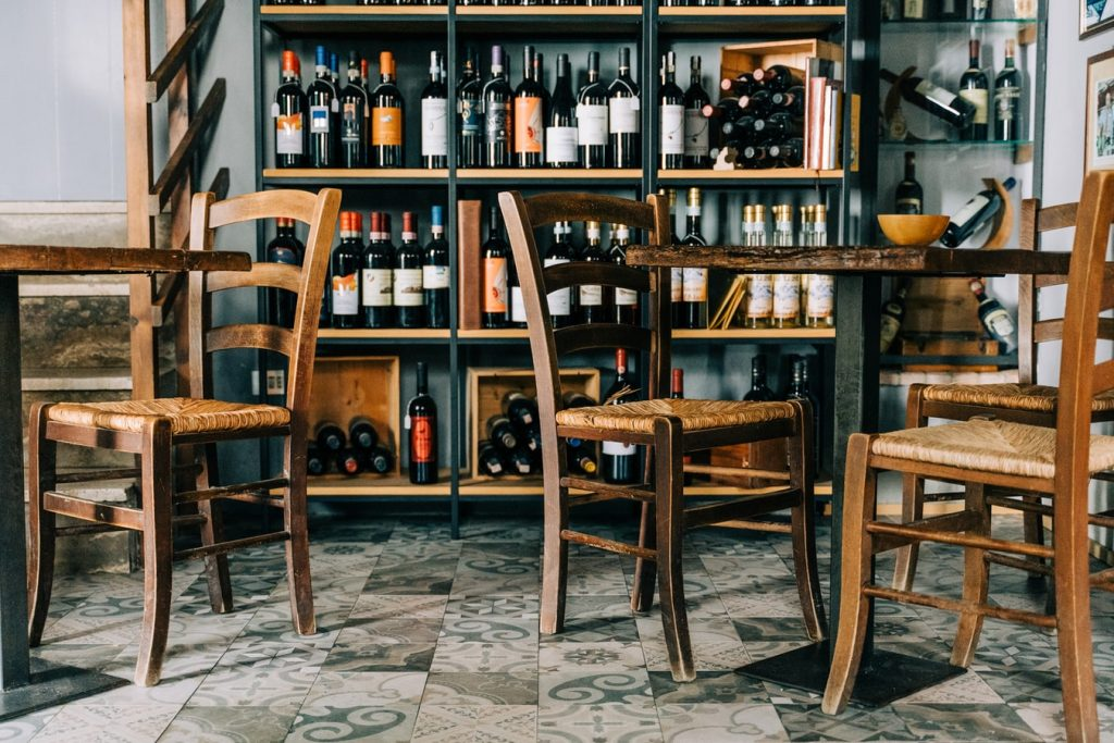 wijnflessen-restaurant