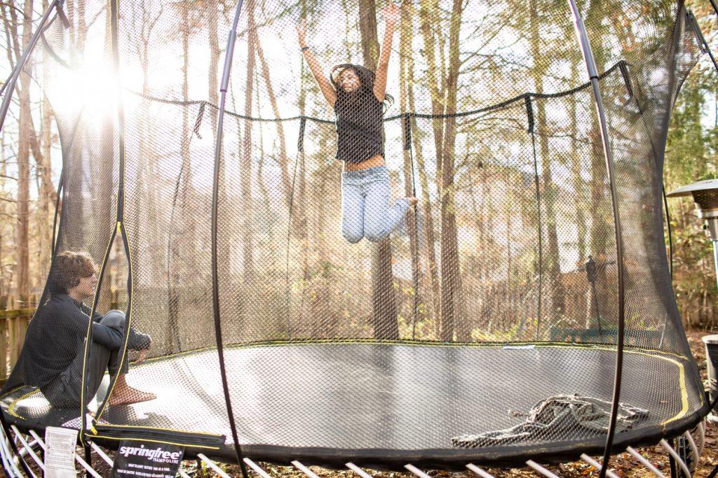 trampoline-tuin
