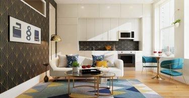 zwart-patronen-behang-woonkamer